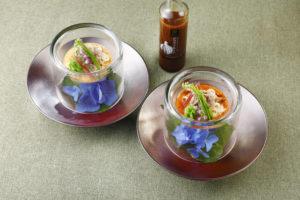 牛胡麻素麺と味噌トマトソースの素麺_松阪牛万能だれ