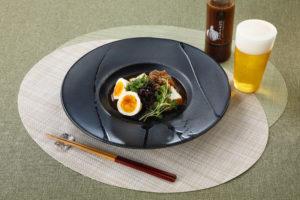 煮玉子と厚揚げの肉味噌和え_松阪牛万能だれ