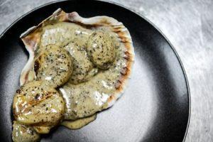 トリュフ 魚介料理例